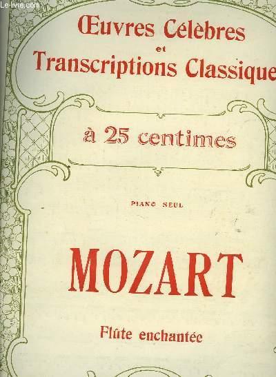SUITE SUR LA FLUTE ENCHANTEE POUR PIANO / OEUVRES CELEBRES ET TRASCRIPTIONS CLASSIQUES N°1077