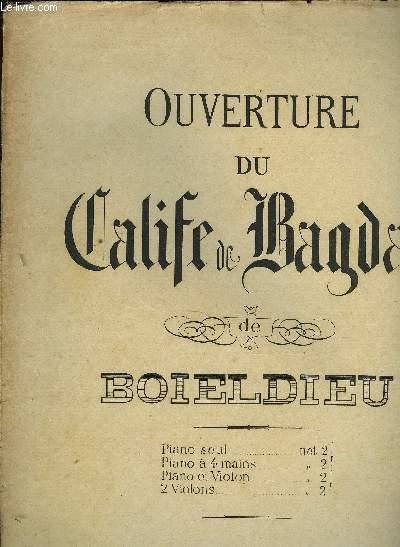 OUVERTURE DU CALIFE DE BAGDAD POUR PIANO SEUL
