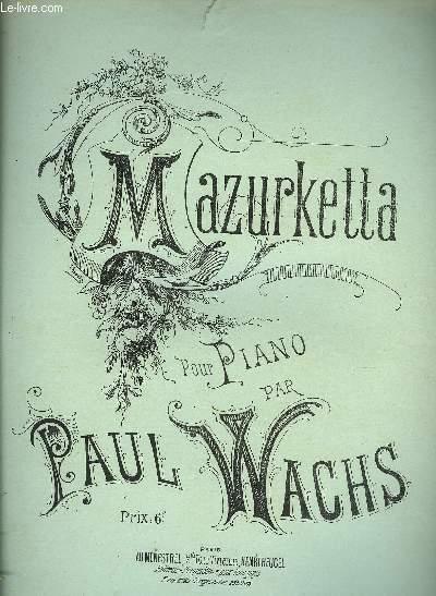 MAZURKETTA pour piano