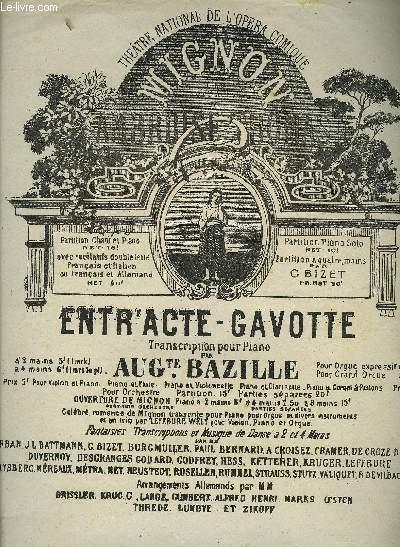 2ème ACTE ENTR'ACTE GAVOTTE extrait de