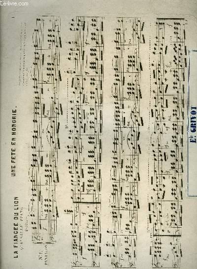 LA FIANCEE DU LION quadrille piano/ LE LION DU DESERT/ LA JEUNE FIANCEE/ LES ADIEUX/ LA VENGEANCE