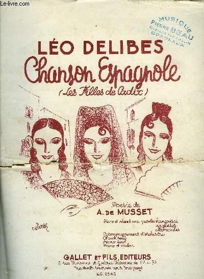 CHANSON ESPAGNOLE (les filles de Cadix)