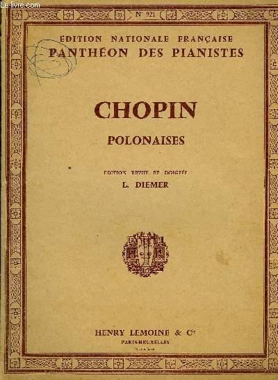 POLONAISES edition revue et doigté par L. Diemer. EDITION NATIONALE FRANCAISE PANTHEON DES PIANISTES N°921