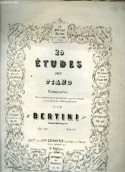 25 ETUDES POUR PIANO
