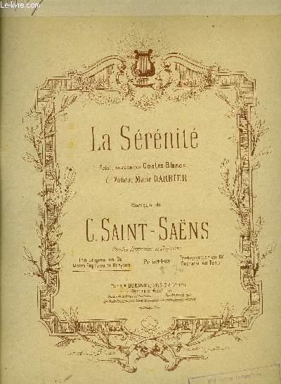 LA SERENITE serenity CHANT ET PIANO EN ANGLAIS ET FRANCAIS