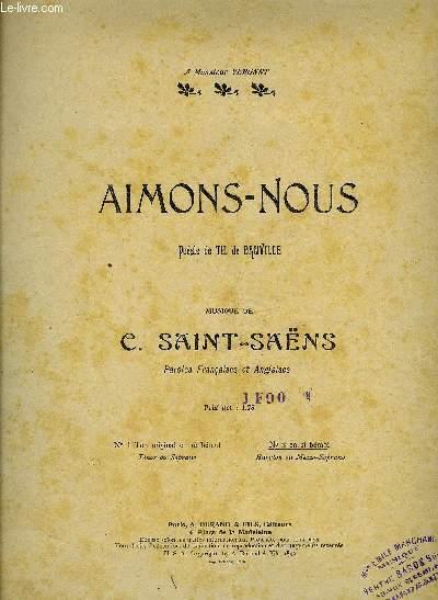 AIMONS-NOUS let us love POUR CHANT ET PIANO EN ANGLAIS ET FRANCAIS