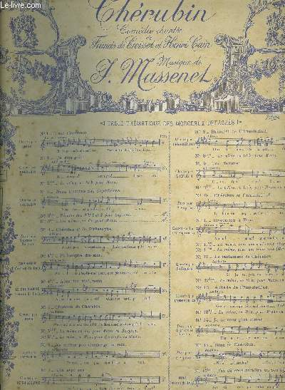 N°5 CHANSON DE CHERUBIN soprano extrait de