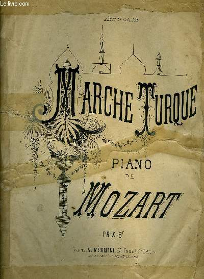 MARCHE TURQUE pour piano