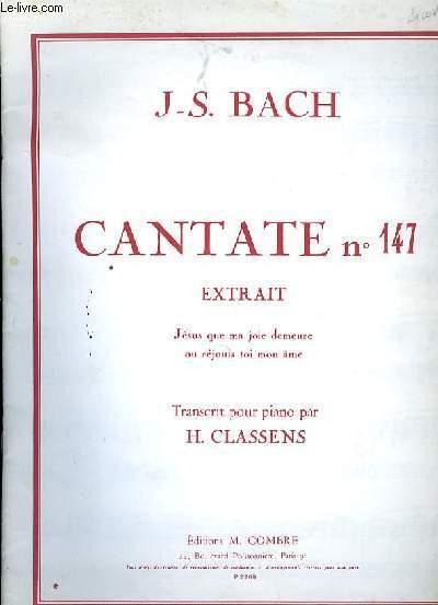 CHORAL extrait de la cantate N°147