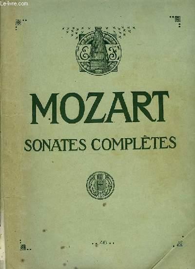 SONATES COMPLETES POUR LE PIANO nouvelle édition revue d'aprés les textes originaux par Georges de Ste Foix revisée et doigtée par B.M Colombier.