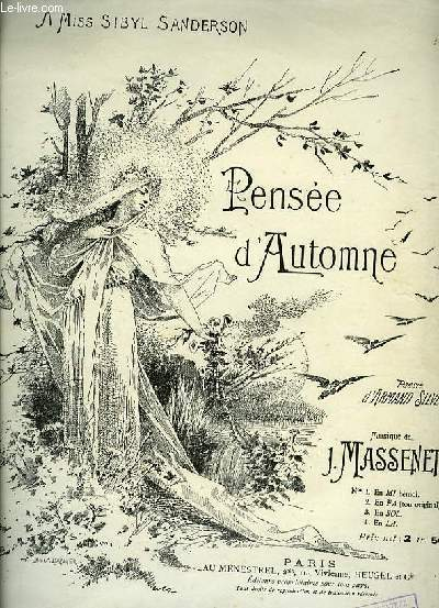 PENSEE D'AUTOMNE N°2 TON ONRIGINAL pour chant et piano