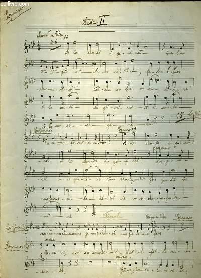 ACTE II et ACTE III pour soprano/ mouvement de valses et Aristide et Gaston