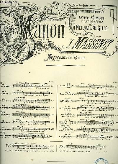 N°6 ADIEUX DE MANON extrait de