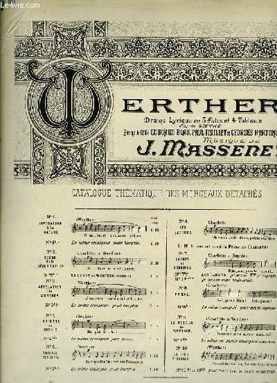 N°7 BIS LES LARMES pour mezzo-soprano extrait de