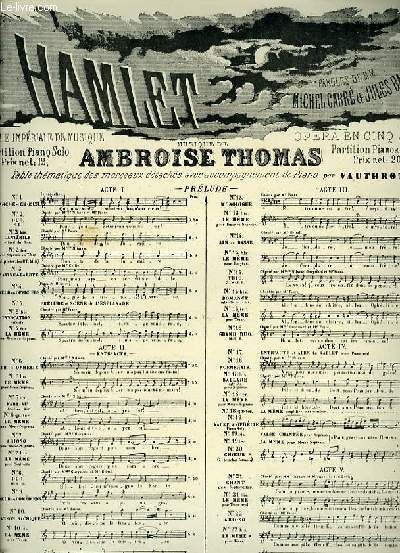N°19 TER VALSE EXTRAITE DE LA GRANDE SCENE D'OPHELIE extrait de l'opéra