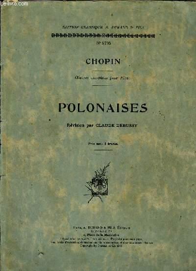 POLONAISES révision par  Claude Debussy oeuvres complètes pour piano