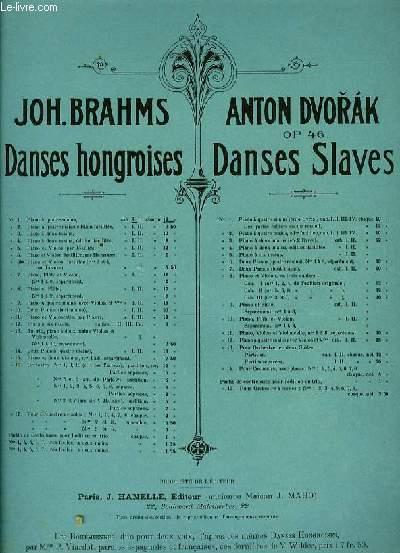 DANSES HONGROISES pour piano à quatre mains CAHIER I