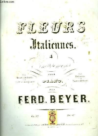 FLEURS ITALIENNES N°1 BEATRICE DE TENDA pour piano seul