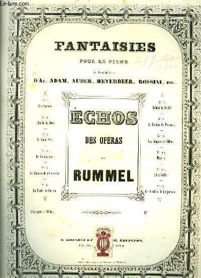 LES DIAMANTS DE LA COURRONNE (auber) pour piano seul
