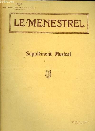 ANTAR piano et chant supplément au MENESTREL du 21 Avril1922