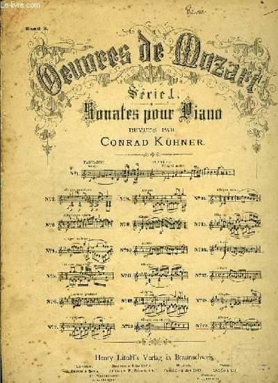 SERIE 1 SONATES XIX POUR PIANO revues par Conrad  Küner