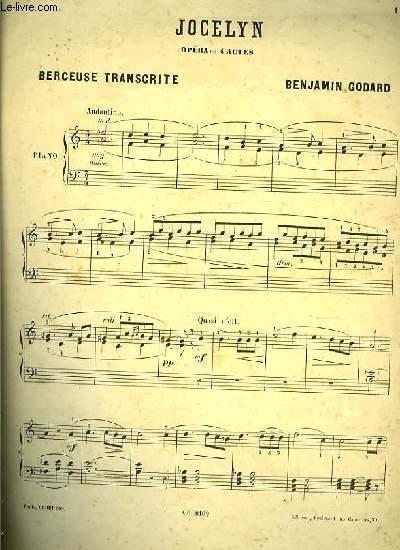 BERCEUSE TRANSCRITE extrait de l'opéra