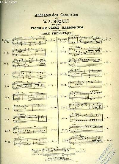 N°19 CONCERTO ANDANTE pour piano et orgue- harmonium