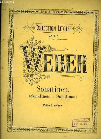 SONATINEN (sonatines- sonatinas) PIANO & VIOLINE
