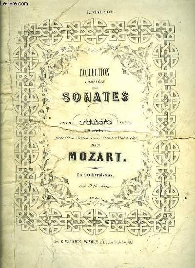 COLLECTION COMPLETE DES SONATES POUR PIANO SEUL à quatre mains