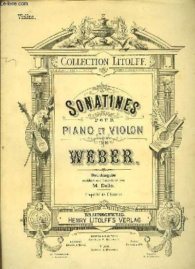 SONATINES pour violon