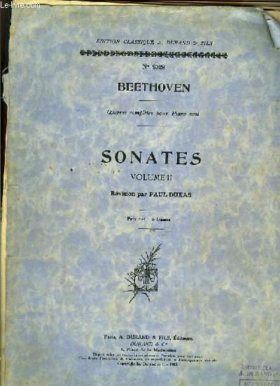 SONATES VOLUME II révision par Paul Dukas