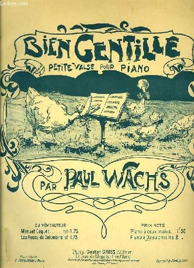 BIEN GENTILLE petite valse pour piano