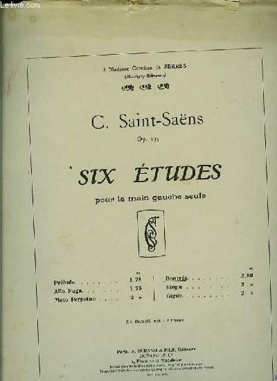 SIX ETUDES IV: BOURREE our lamain gauche seul