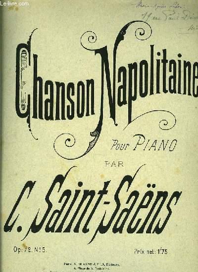 CHANSON NAPOLITAINE pour piano