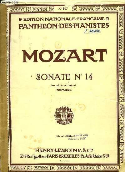 SONATE N°14 en mi bémol majeur FANTAISIE POUR PIANO EDITION NATIONALE FRANCAISE PANTHEON DES PIANISTES