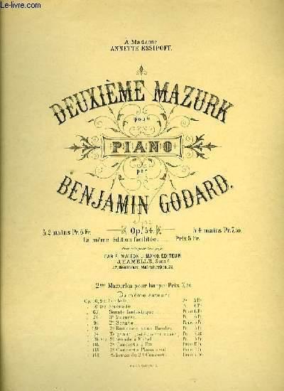 DEUXIEME MAZURK pour piano