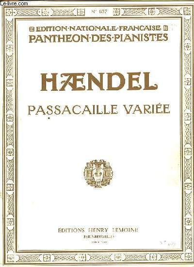 PASSACAILLE VARIEE EDTION NATIONALE FRANCAISE PANTHEON DES PIANISTES