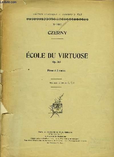 ECOLE DE VIRTUOSE OP.365 piano à 2 mains
