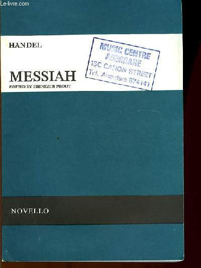 MESSIAH edited by Ebenezer Prout