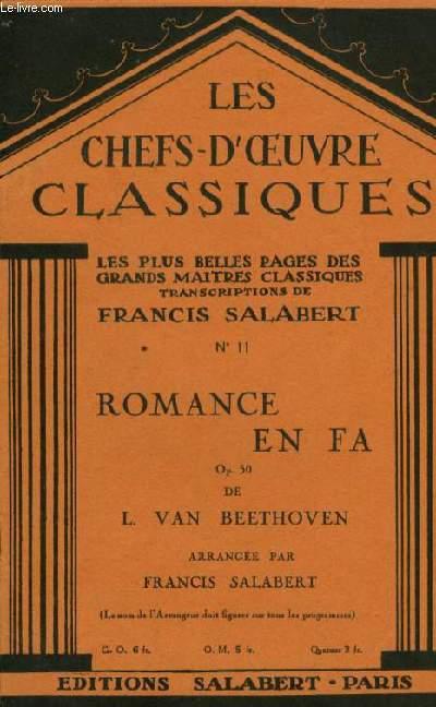N°11 ROMANCE EN FA LES CHEFS D'OEUVRES CLASSIQUES les plus belles pages des grands maitres classiques