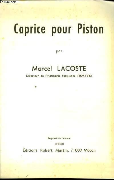 CAPRICE POUR PISTON cornet solo Si b et piano