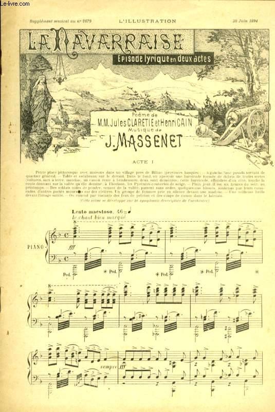 LA NAVARAISE POUR PIANO SEUL Supplément musical N°2679 à l'illustration du 30 juin 1894