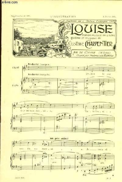 extrait de LOUISE pour chant et piano Supplément au N°2971 à l'illustration du 3 Février 1900.