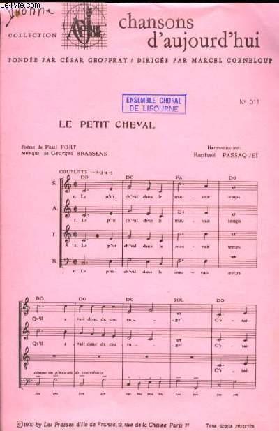 LE PETIT CHEVAL partition à quatre voix