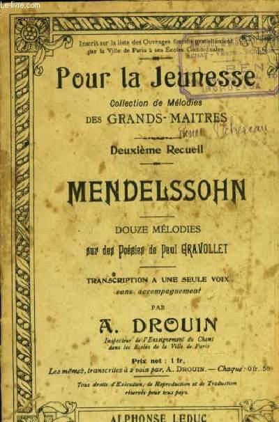 POUR LA JEUNESSE: douze mélodies,