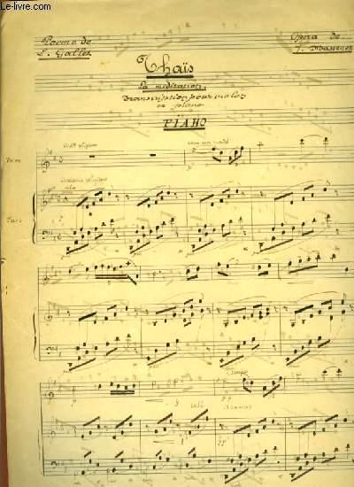 THAIS la méditation transcription pour violon et piano
