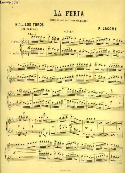 LA FERIA suite espagnole pour orchestre N°1_LOS TOROS pour flûte et petite flûte