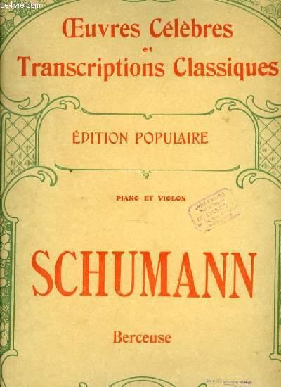 BERCEUSE piano et violon EDITION POPULAIRE OEUVRES CELEBRES ET TRANSCRIPTIONS CLASSIQUES N°1089