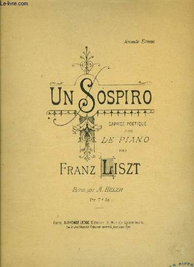 UN SOSPIRO caprice poétique pour piano