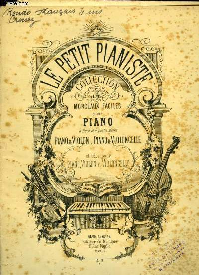 RONDO FRANCAIS pour piano à quatre mains